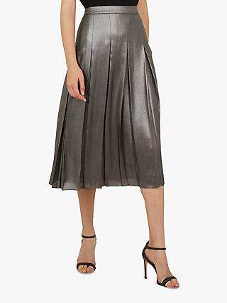 Ted Baker Laurraa Pleat Skirt, Charcoal