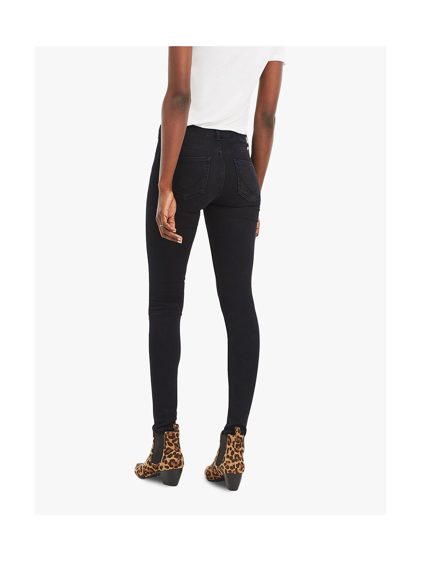 Buy Oasis New Wash Jade Jeans, Black, 8L Online at johnlewis.com