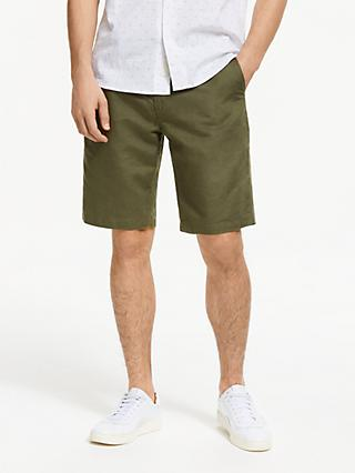 John Lewis & Partners Linen Cotton Shorts