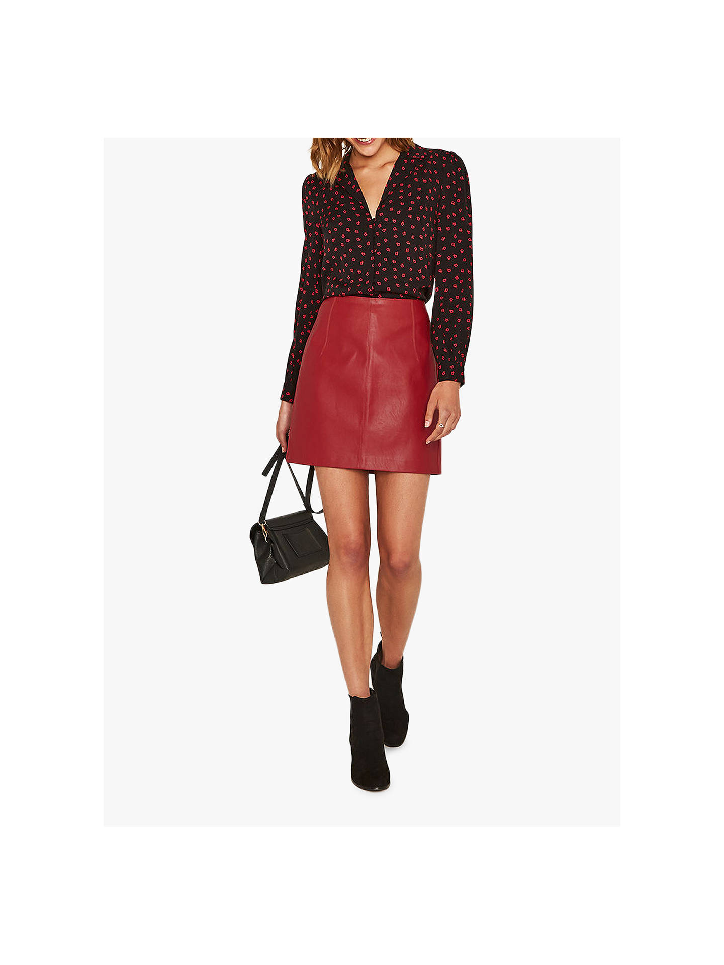 cbdf698c19 Buy Oasis Faux Leather Mini Skirt, Red, 6 Online at johnlewis.com ...