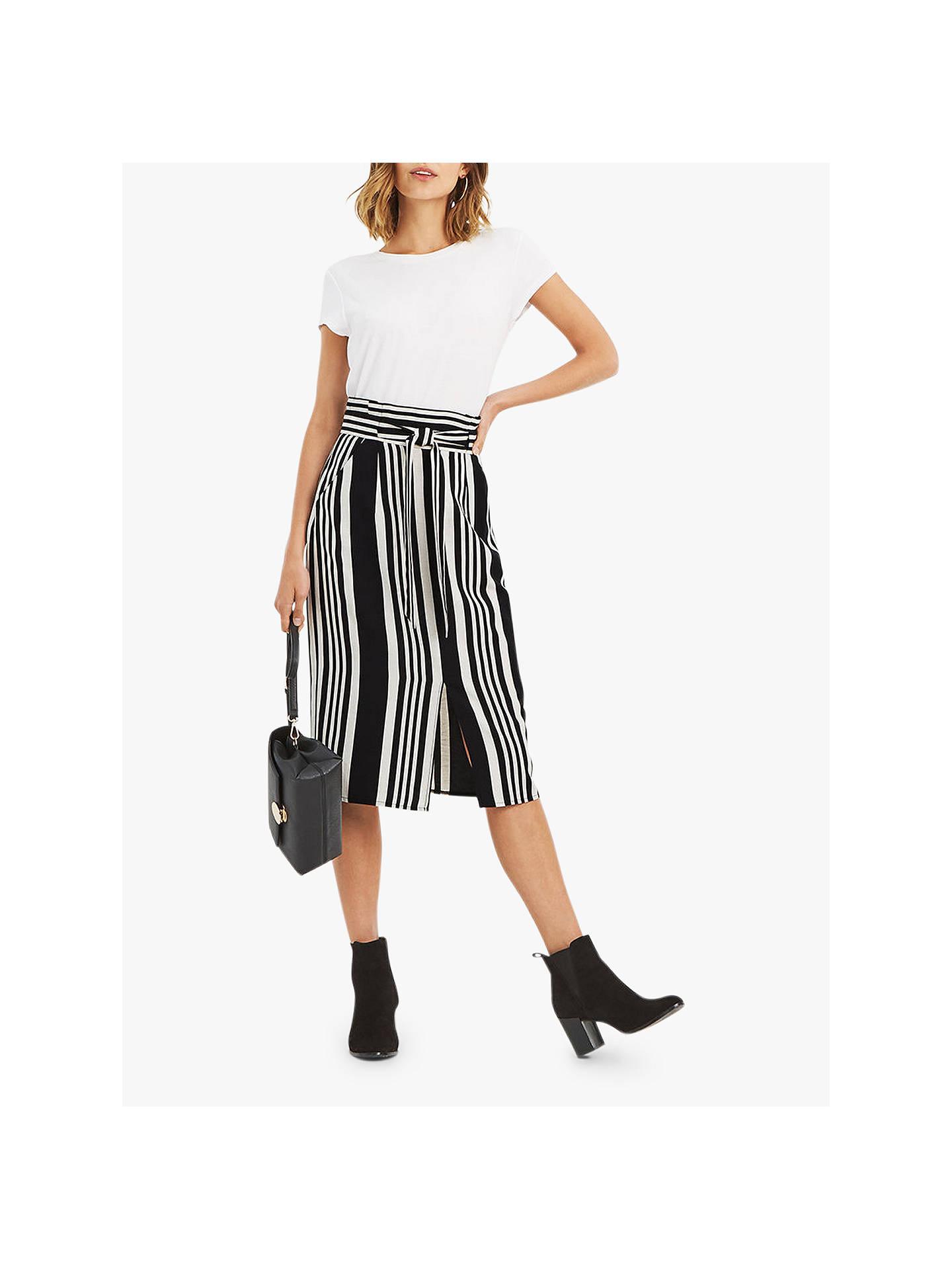 e73b919443 Buy Oasis Stripe Pencil Skirt, Black/White, 14 Online at johnlewis.com ...
