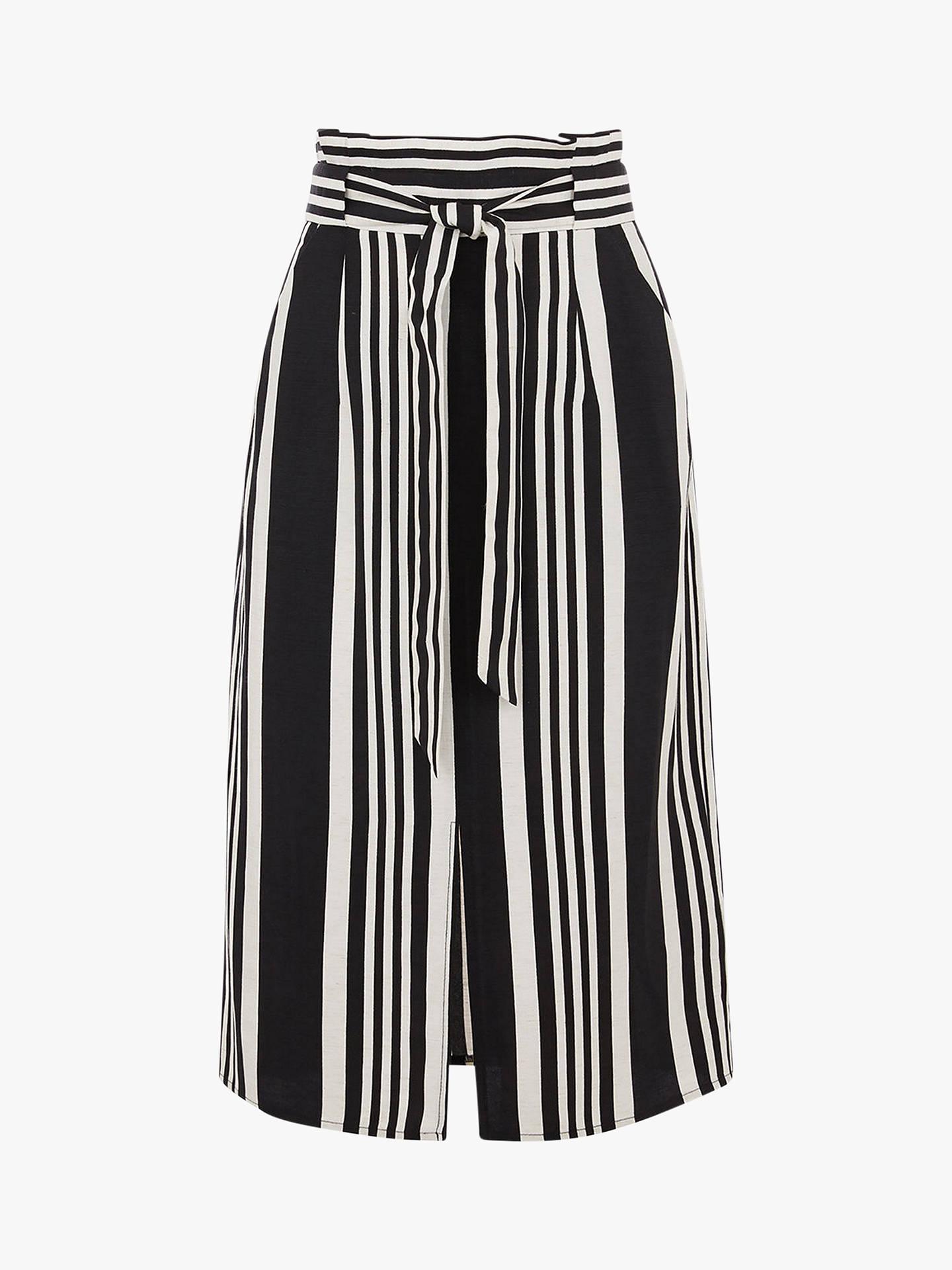 6411f73e67 ... Buy Oasis Stripe Pencil Skirt, Black/White, 14 Online at johnlewis.com  ...