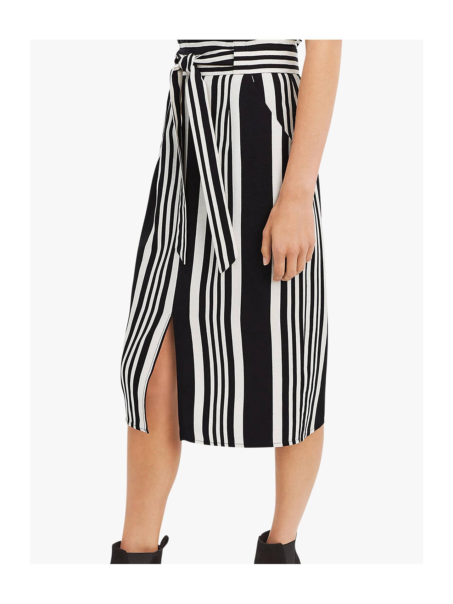 49c46bdbb6 ... Buy Oasis Stripe Pencil Skirt, Black/White, 14 Online at johnlewis.com