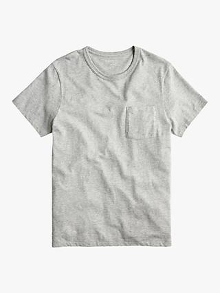 J.Crew Pocket Crew Neck T-Shirt, Heather Grey