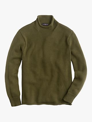 J.Crew Cotton Solid Roll Neck Jumper