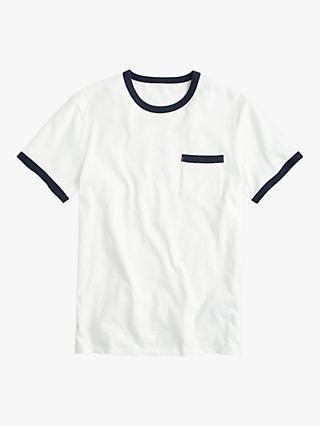 J.Crew Tipped Pocket T-Shirt, Ivory