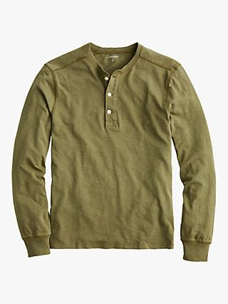 J.Crew Henley Long Sleeve T-Shirt, Safari Fatigue
