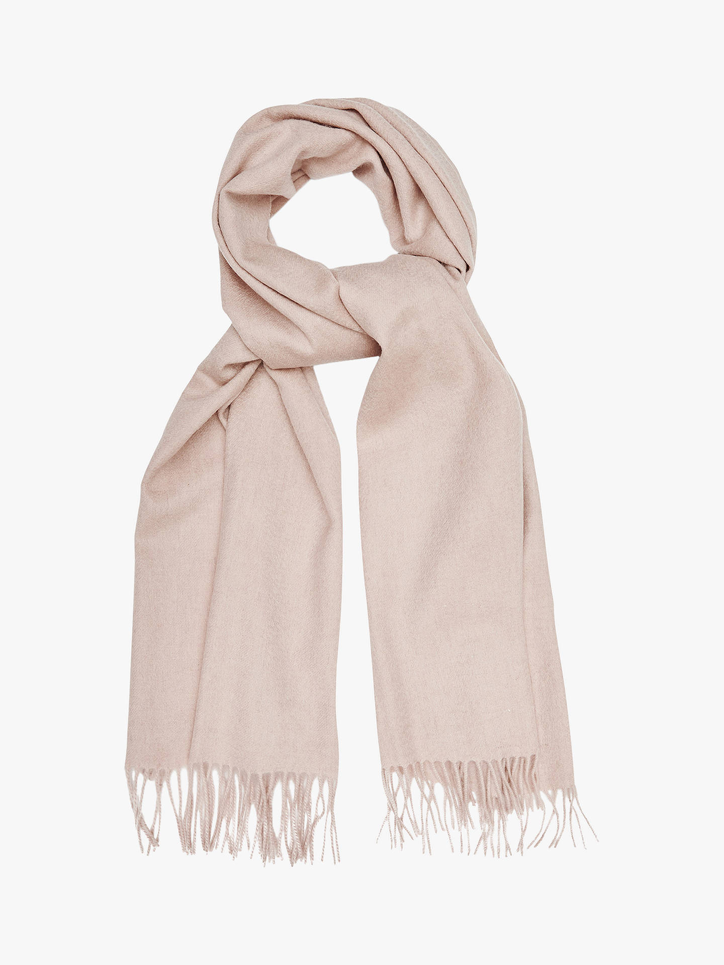 c950db53e Buy Reiss Saskia Lambswool and Cashmere Fringe Scarf, Neutral Online at  johnlewis.com ...