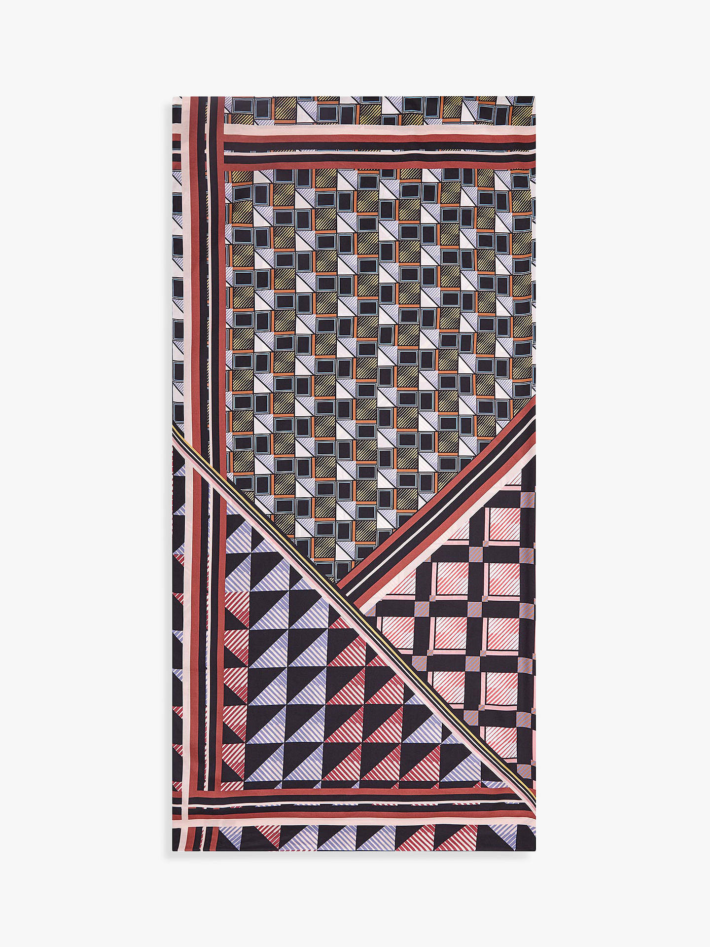 Buy Reiss Remi Abstract Print Square Silk Scarf, Multi Online at johnlewis.com