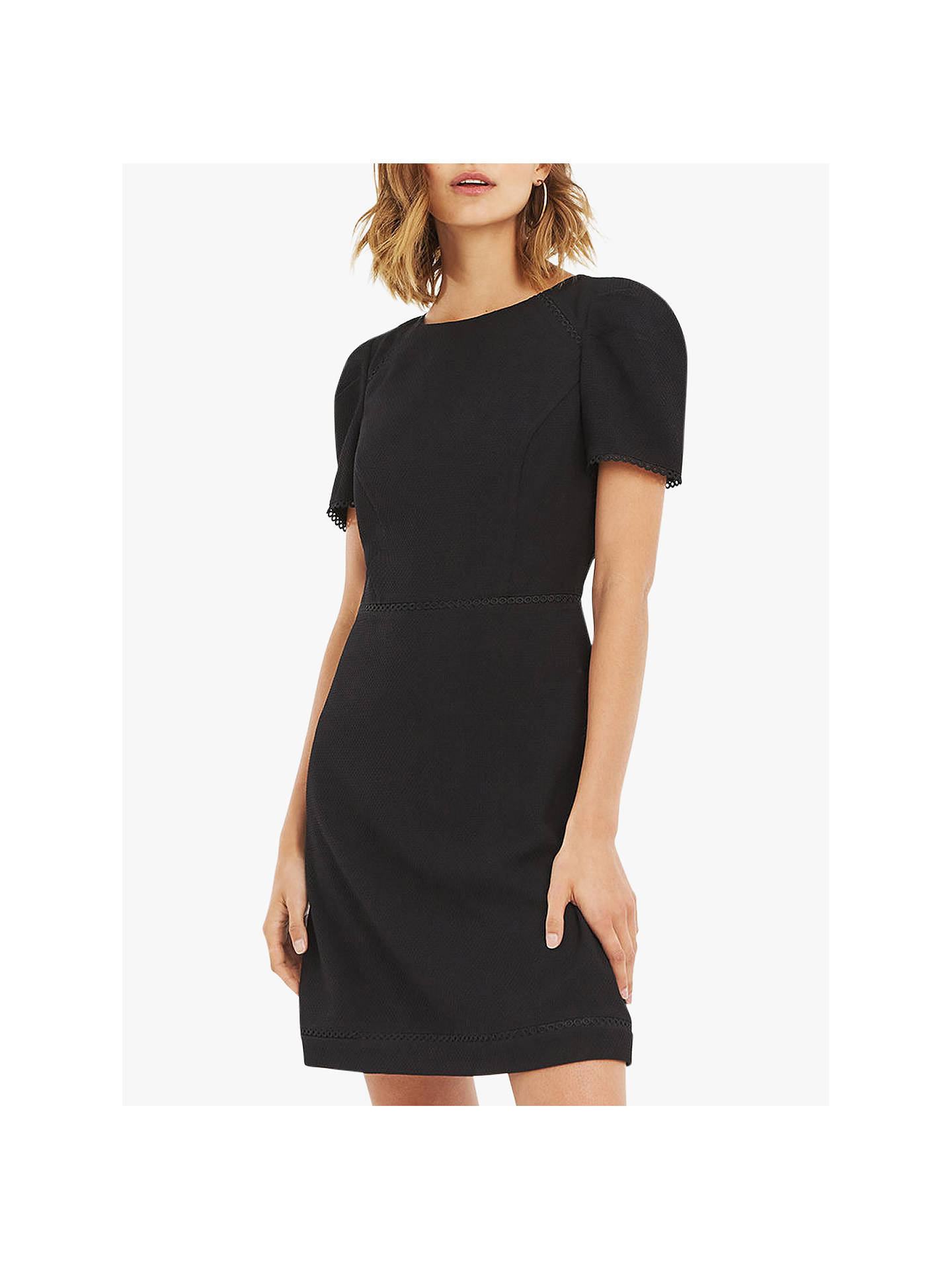 12ec5bfab66a Buy Oasis Circle Trim Dress, Black, 6 Online at johnlewis.com ...