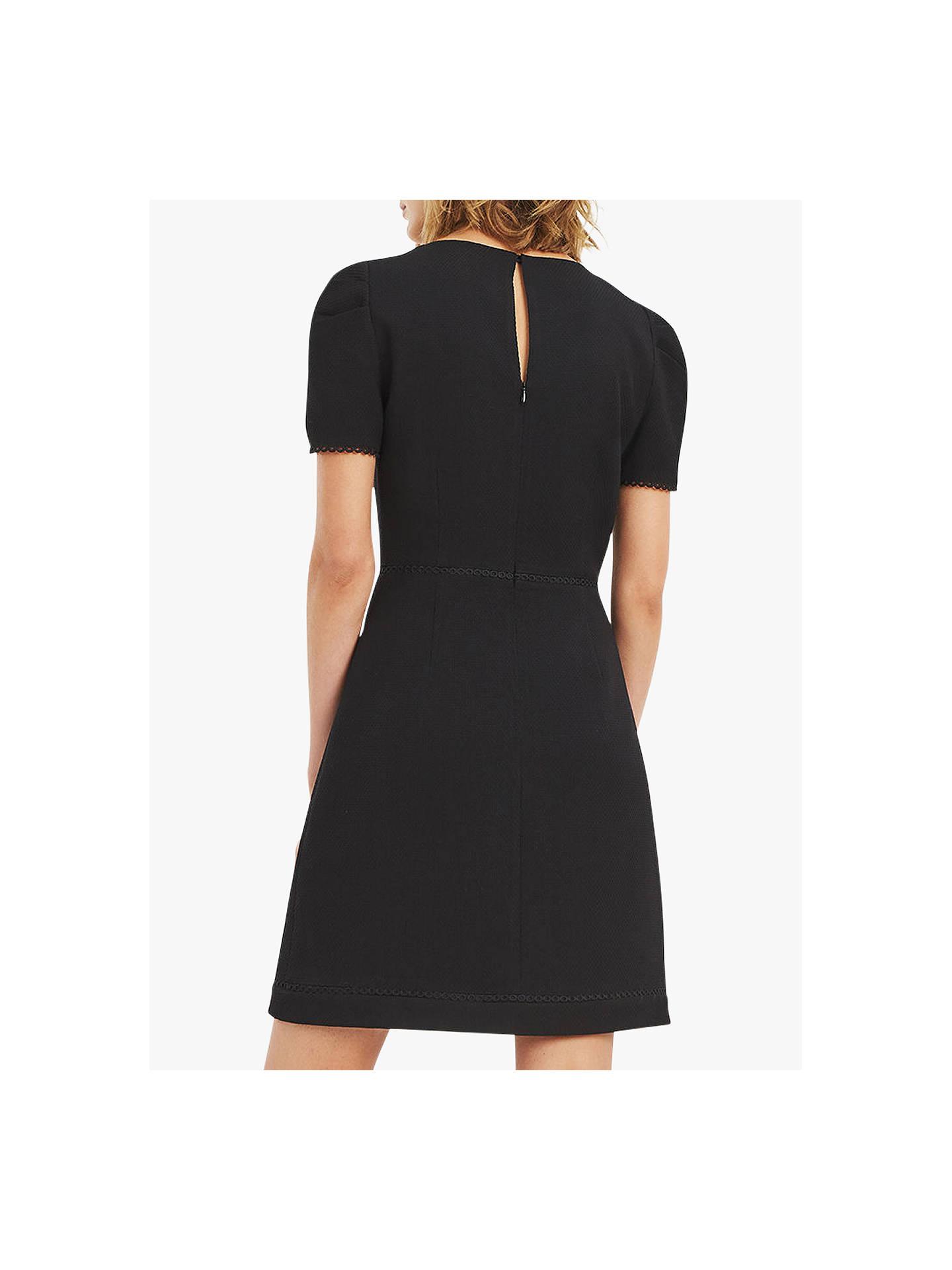 902a0653d2ce ... Buy Oasis Circle Trim Dress, Black, 6 Online at johnlewis.com ...