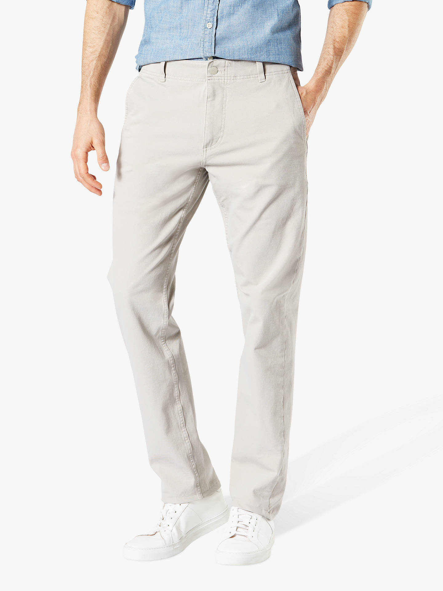 22c7c8d5392505 Buy Dockers Smart 360 Flex Alpha Slim Tapered Trousers, Salix Grey, 32L  Online at ...