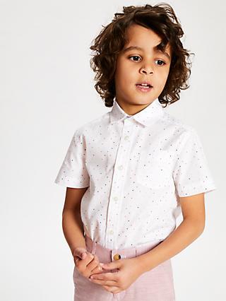 fc6738e1 John Lewis & Partners Heirloom Collection Boys' Pindot Shirt, White