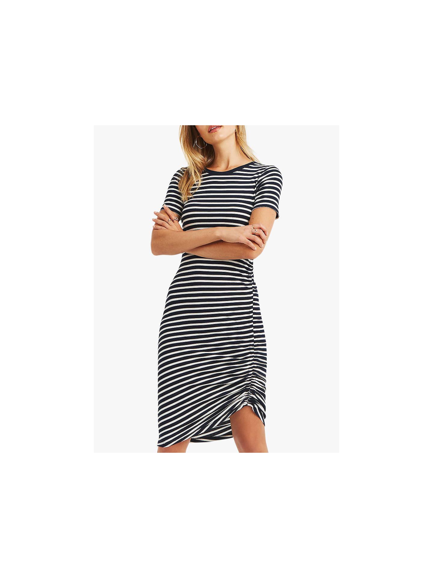 8fb941bea7d2 Buy Oasis Asymmetric Striped Jersey Dress, Multi, XL Online at  johnlewis.com ...