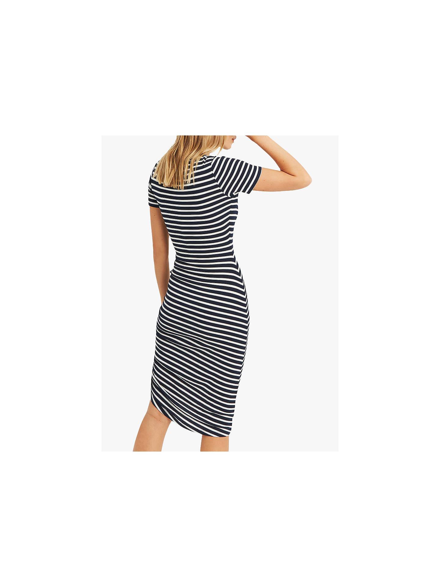 08540b5e1988 ... Buy Oasis Asymmetric Striped Jersey Dress, Multi, XL Online at  johnlewis.com ...