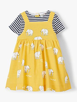 John Lewis   Partners Baby GOTS Organic Cotton Mammoth Dress and Stripe Top  Set 3ec3566bc73e