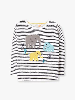 John Lewis & Partners Baby GOTS Organic Cotton Mammoth Stripe T-Shirt, Multi