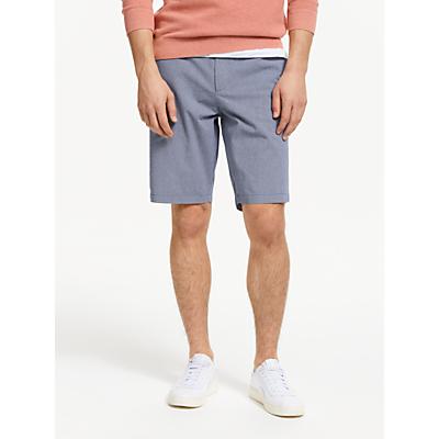 John Lewis & Partners Micro Stripe Chino Shorts, Navy