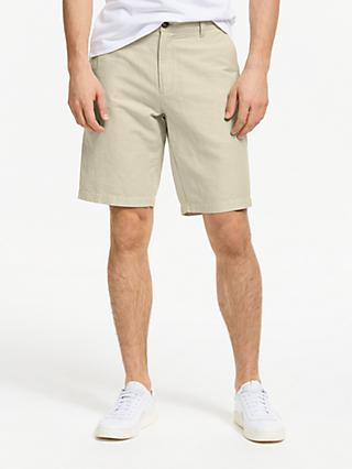 John Lewis & Partners Linen Cotton Stripe Shorts