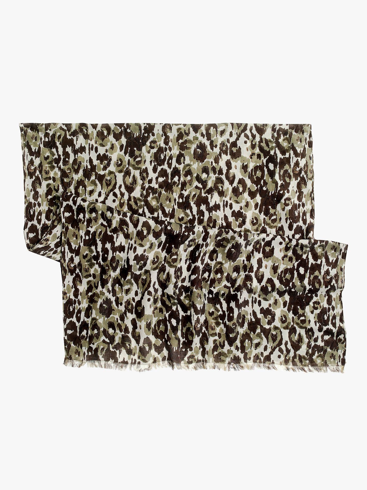 353528aa1997a ... Buy J.Crew Leopard Scarf, Autumn Cheetah Online at johnlewis.com