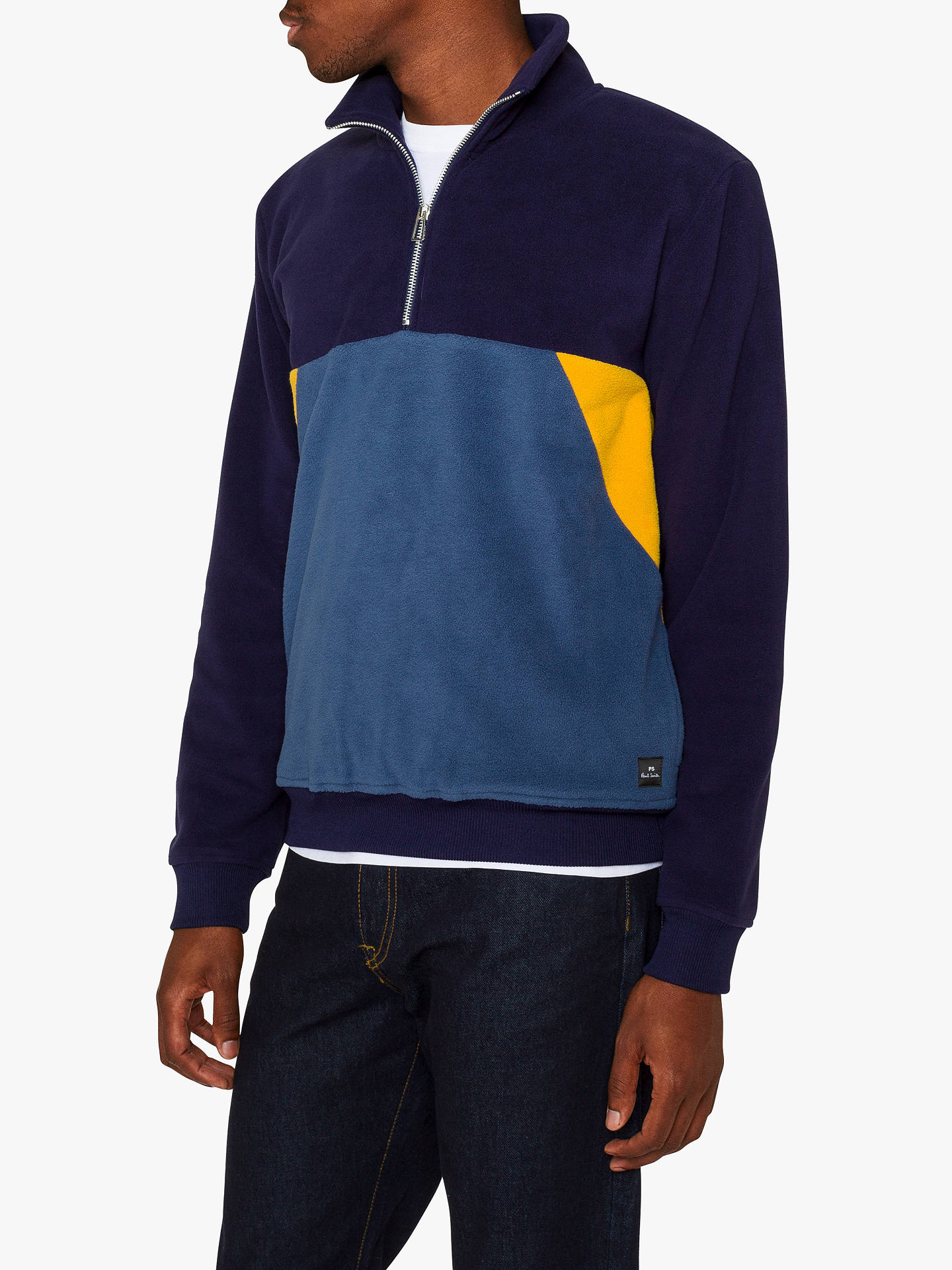c9c3641d09 Buy PS Paul Smith Colour Block Half Zip Fleece Sweatshirt