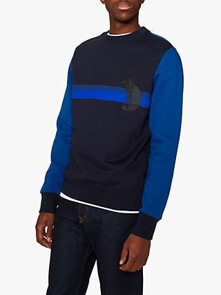 3fd9da9cb245ab PS Paul Smith Fox Print Sweatshirt, Navy