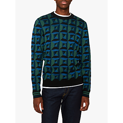 PS Paul Smith Geo Jumper, Blue/Green