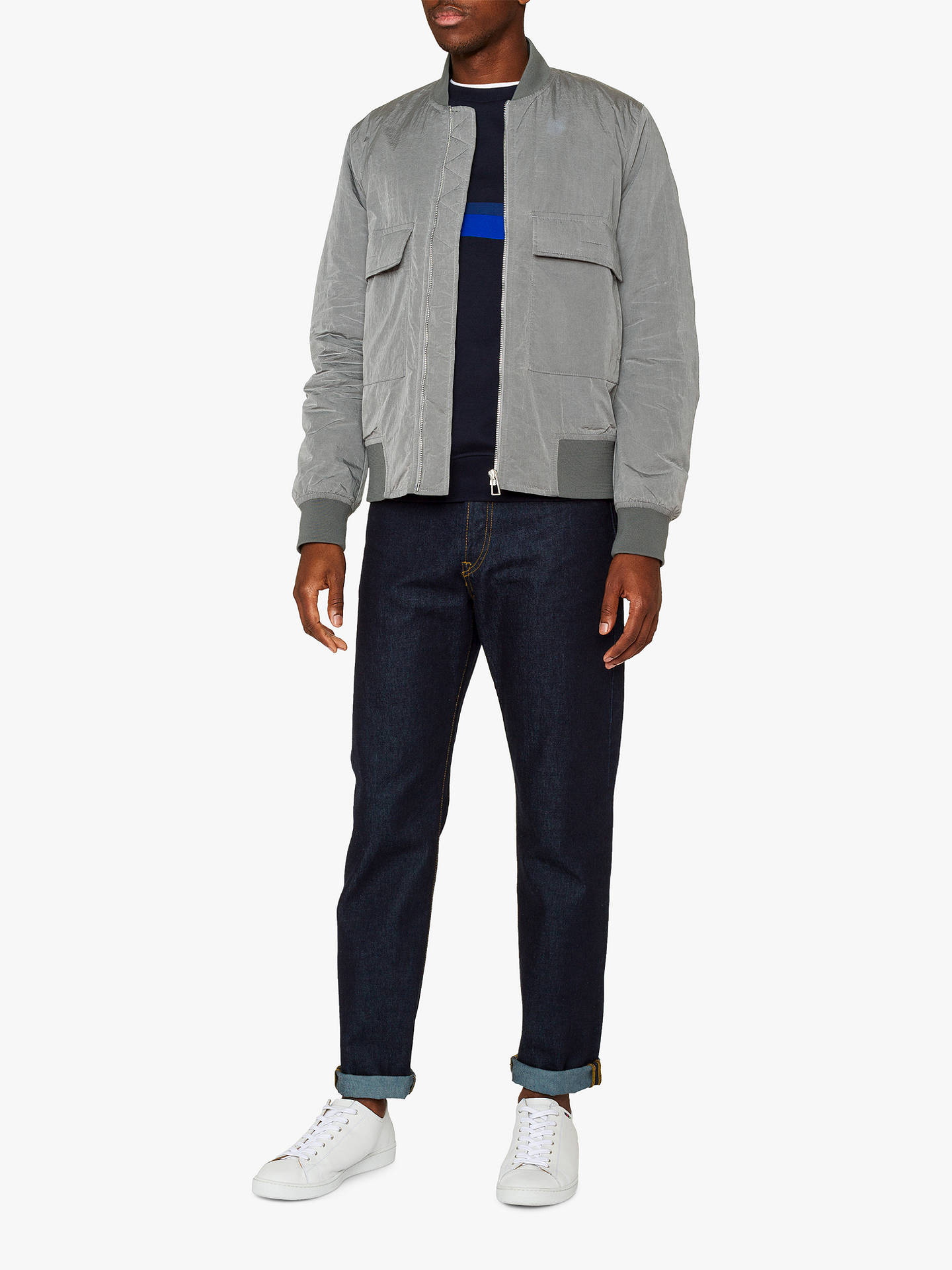 5423c9f24 PS Paul Smith Oversized Bomber Jacket, Grey