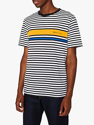 PS Paul Smith Engineered Logo Stripe T-Shirt
