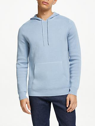 Kin Compact Cotton Blend Hoodie, Blue