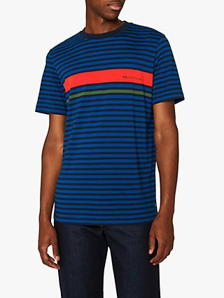 be2c52fd5 PS Paul Smith Engineered Logo Stripe T-Shirt
