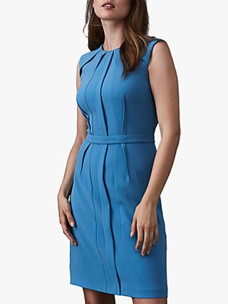 Reiss Nala Soft Dress, Blue