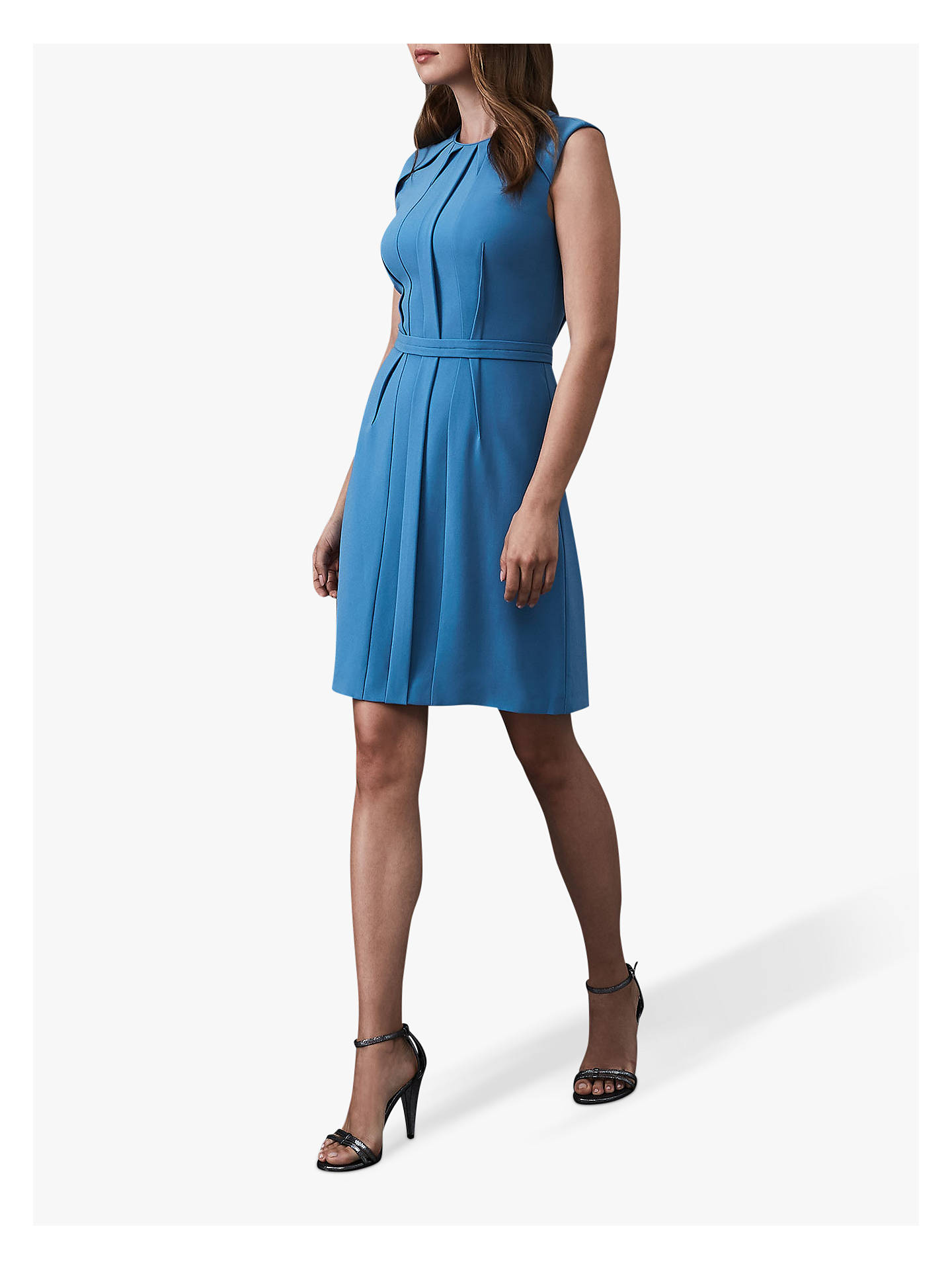 Buy Reiss Nala Soft Dress, Blue, 6 Online at johnlewis.com