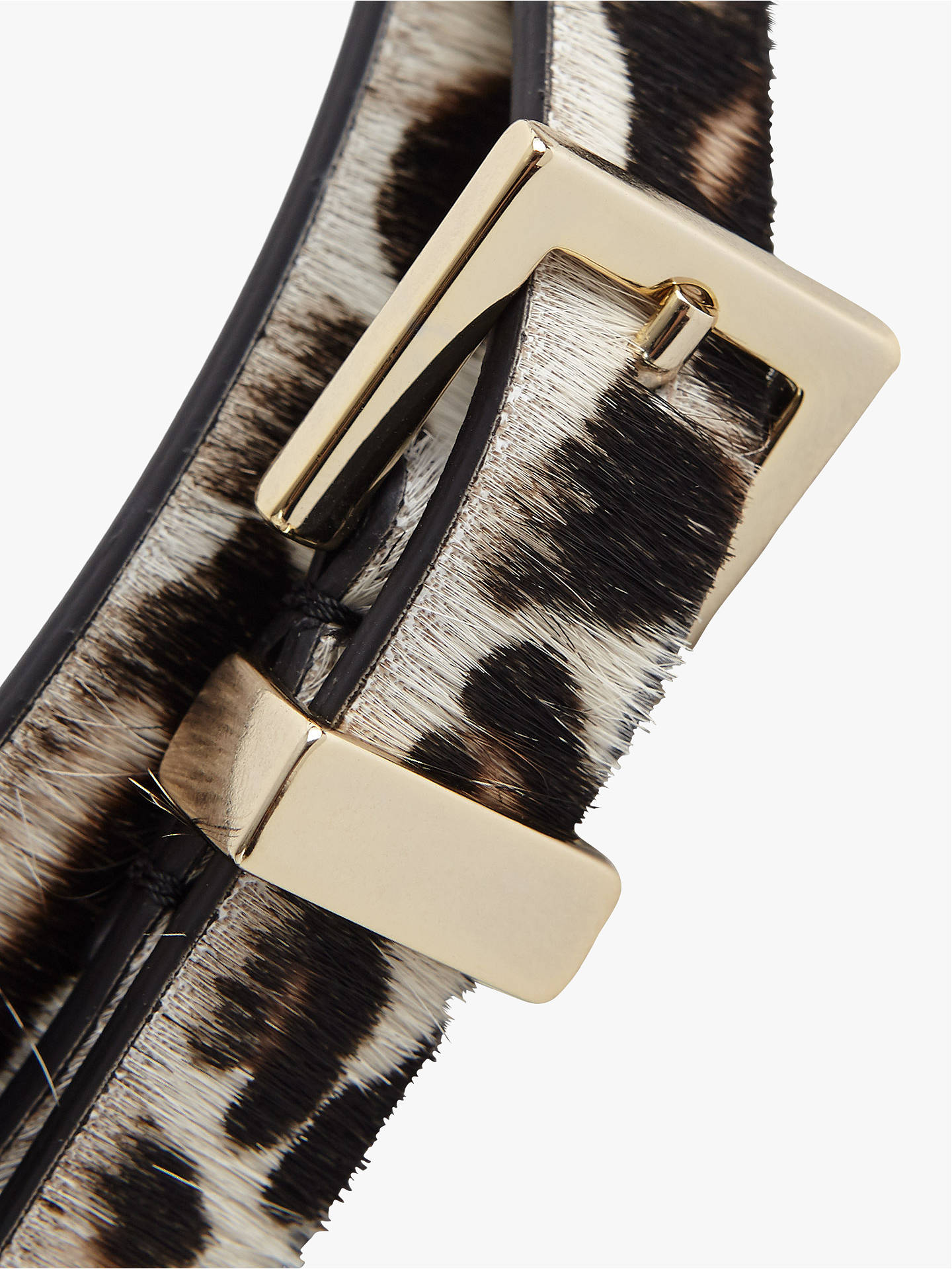 Buy Reiss Blossom Leopard Print Belt, Multi, XS Online at johnlewis.com