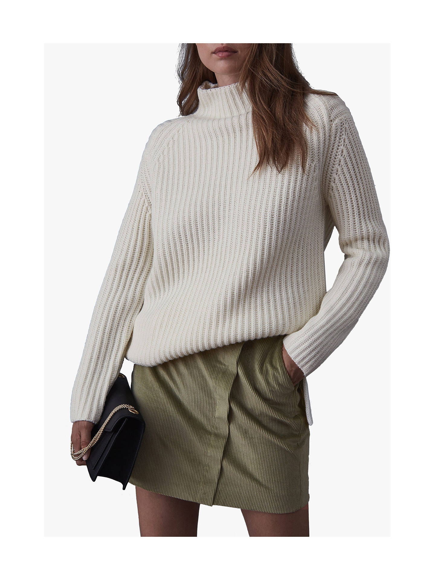 1c88905197 ... Buy Reiss Francis Corduroy Mini Skirt, Green Mid, 8 Online at  johnlewis.com