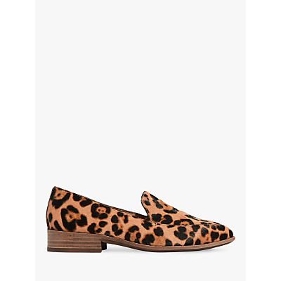 Madewell Frances Leopard Haircalf Loafers, Truffle Multi