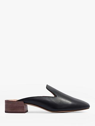Madewell Bernard Mule Loafers, Black Leather