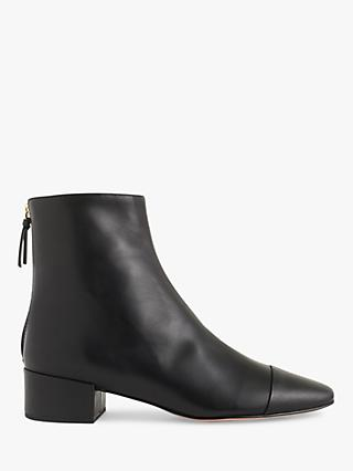 1b776e5aab5 J.Crew Leona Leather Block Heel Ankle Boots
