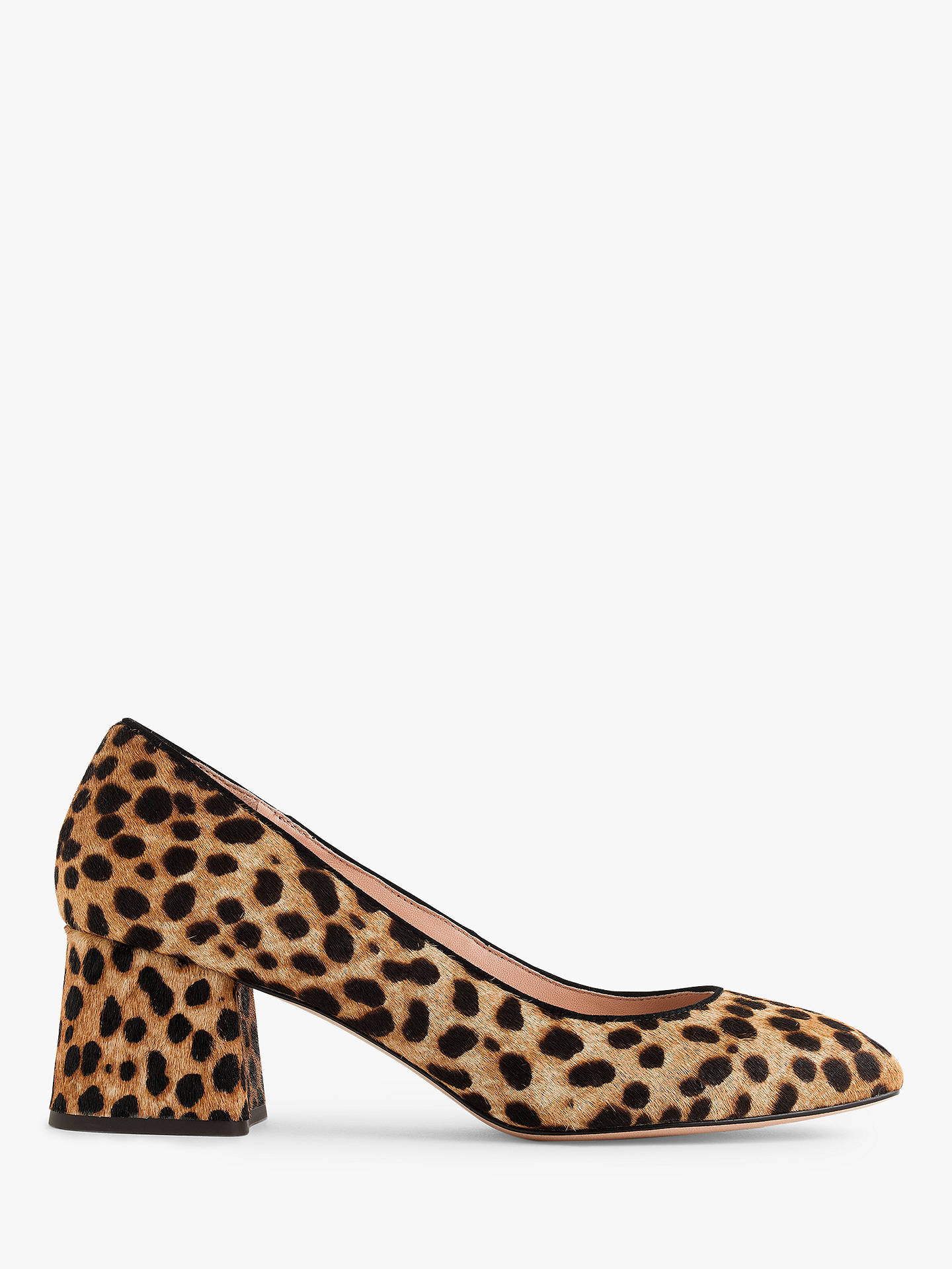 f0bd058e2f10 Buy J.Crew Celia Block Heel Court Shoes, Leopard Haircalf, 5.5 Online at ...