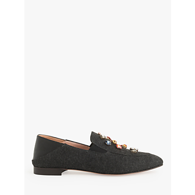J.Crew Janie Jewel Convertible Loafers, Carbon