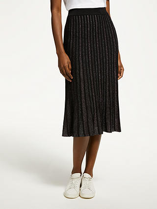 Buy SUNCOO Fanelie Skirt, Black, 8 Online at johnlewis.com