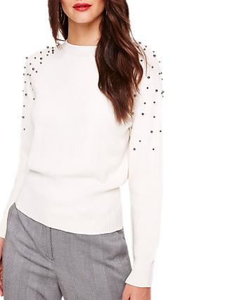 Damsel in a Dress Stud Detail Knitted Jumper, Cream