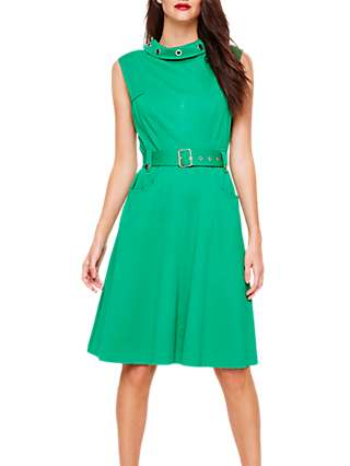 Damsel in a Dress Suzy Eyelet Detail Dress, Emerald