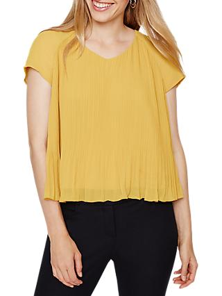 Damsel in a Dress Juniper Pleat Blouse, Mustard