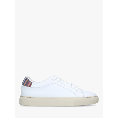 Paul Smith Basso Counter Lace Up Trainers, White/Multi Leather