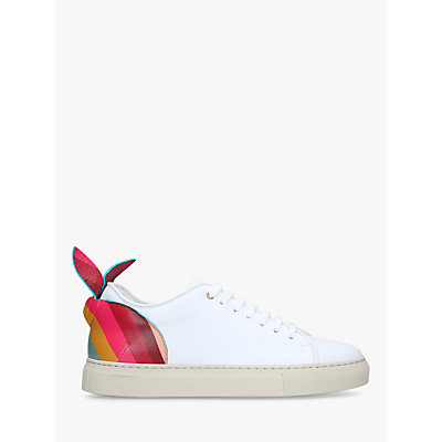 Paul Smith Basso Bunny Lace Up Trainers, White/Multi Leather