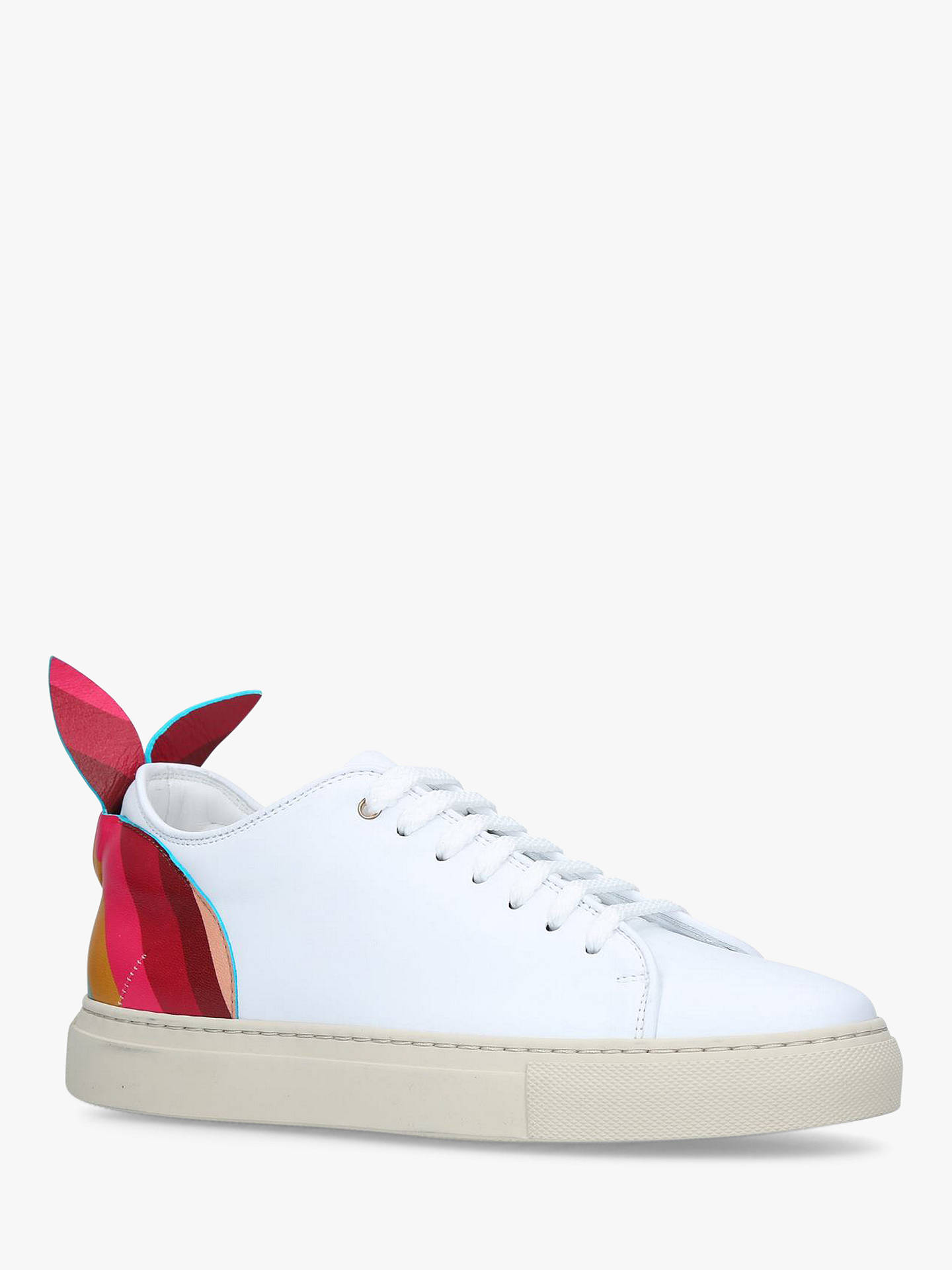 Buy Paul Smith Basso Bunny Lace Up Trainers, White/Multi Leather, 2 Online at johnlewis.com