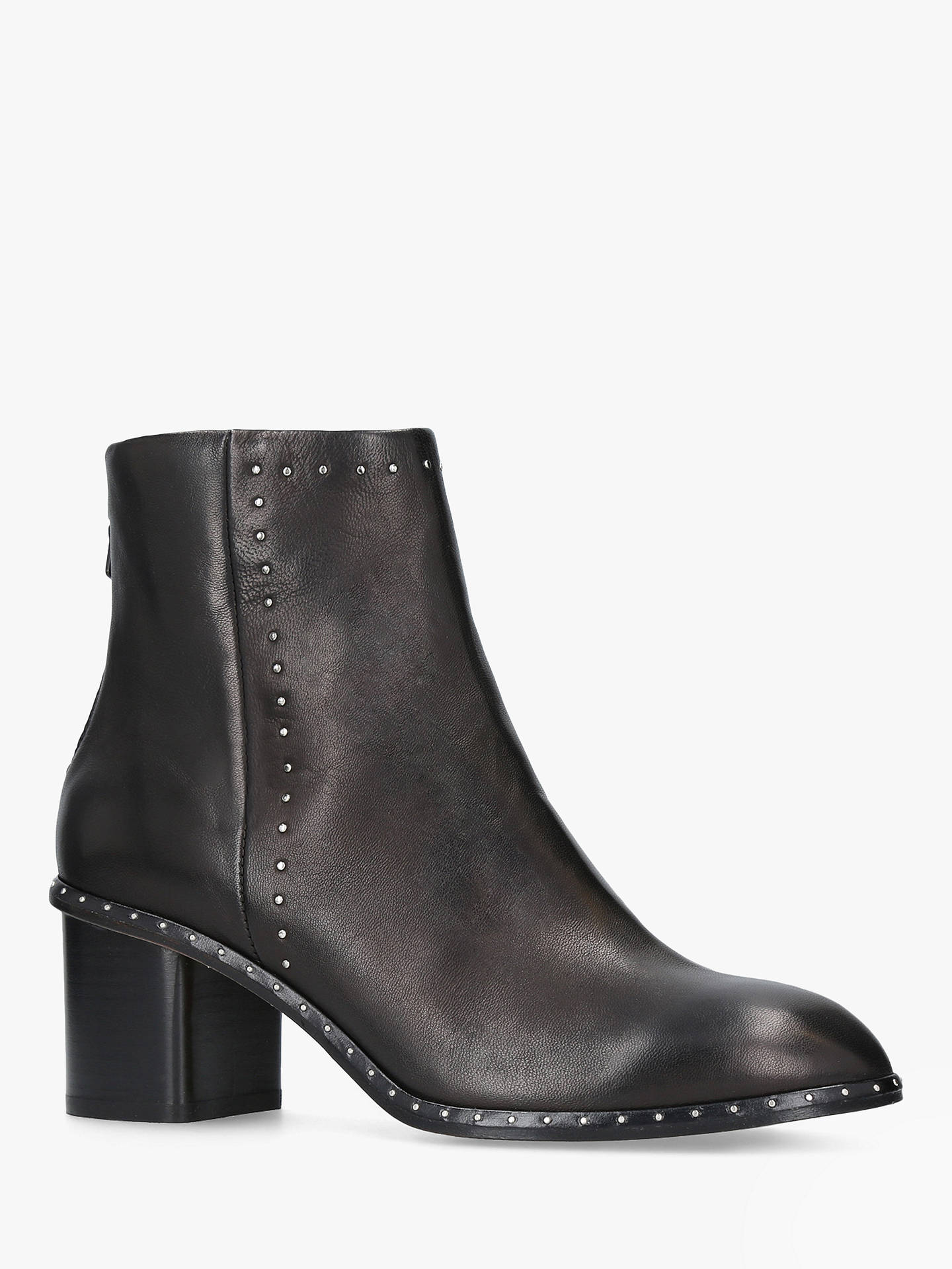 fe5606a5 rag & bone Willow Leather Studded Ankle Boots, Black at John ...