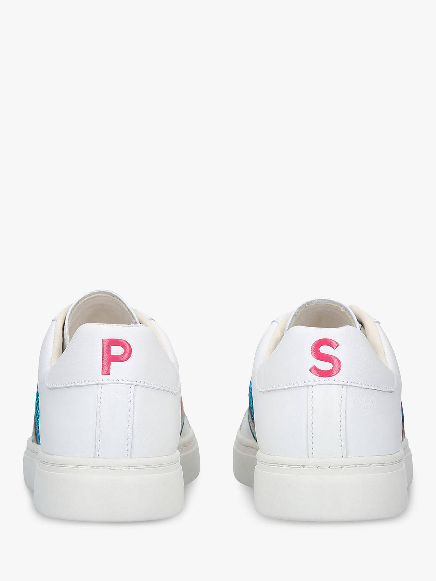 BuyPaul Smith Lapin Stripe Lace Up Trainers, White/Multi Leather, 2 Online at johnlewis.com