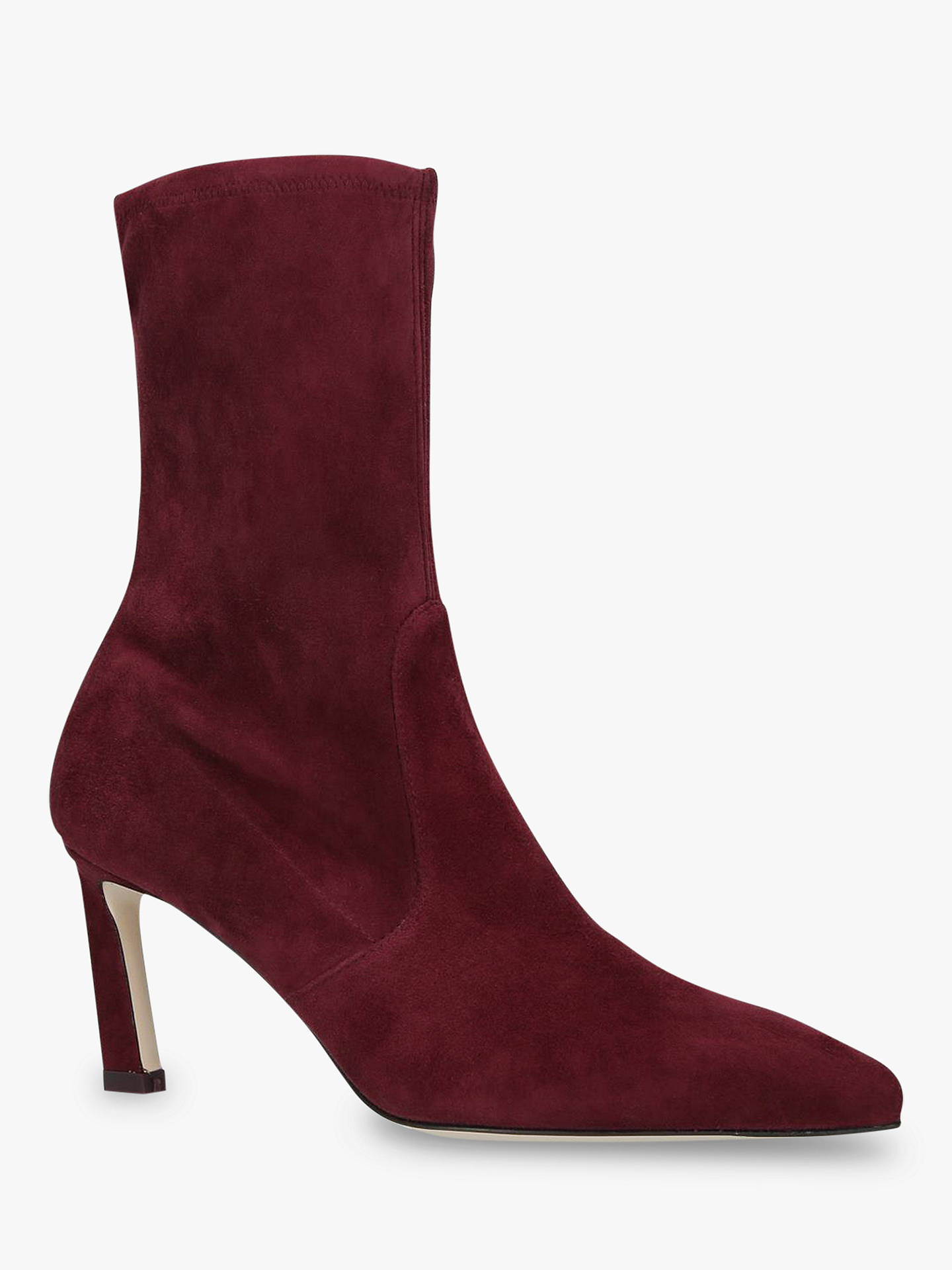 BuyStuart Weitzman Rapture Sock Boots, Red Suede, 2 Online at johnlewis.com